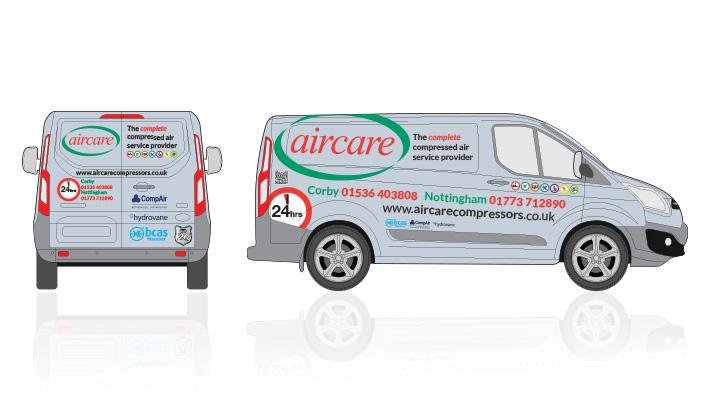 Aircare Van Livery